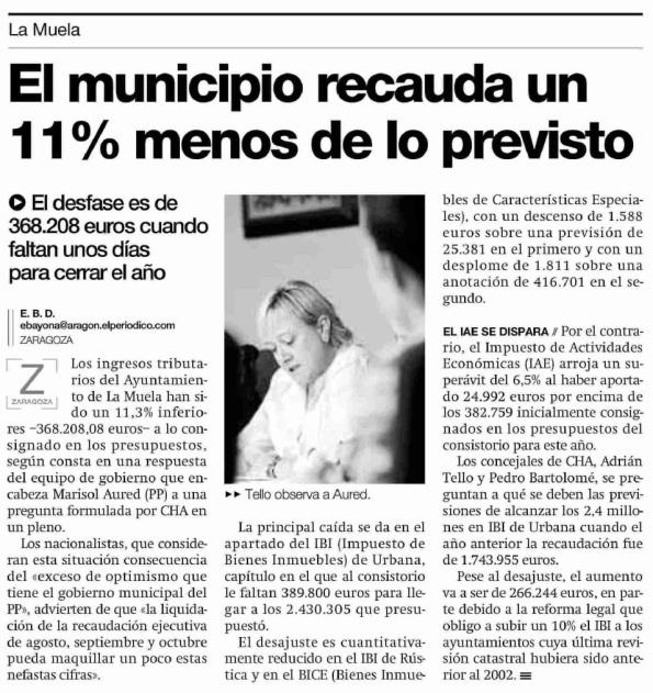 El Periódico de Aragón. 24.12.12