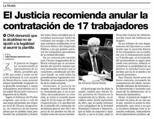 El Periódico de Aragón. 12.03.12