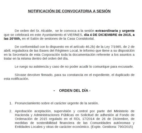 Pleno Extraordinario y Urgente (04.12.15)